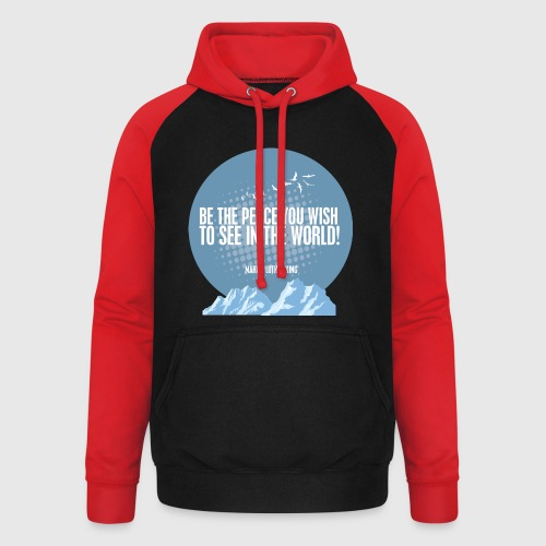 PEACE - MARTIN LUTHER KING - Unisex baseball hoodie