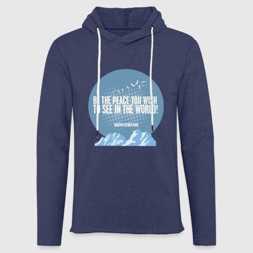 PEACE - MARTIN LUTHER KING - Let sweatshirt med hætte, unisex