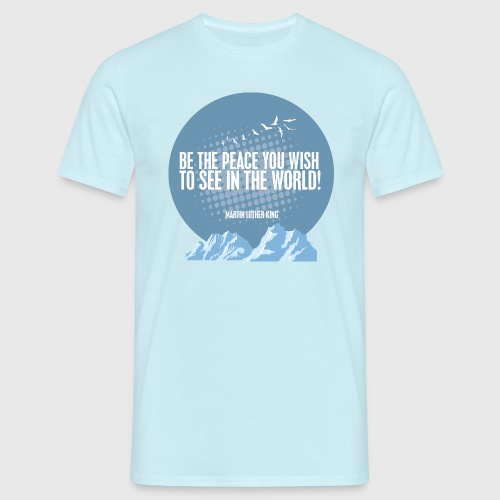 PEACE - MARTIN LUTHER KING - Herre-T-shirt