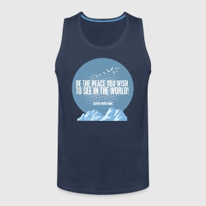 PEACE - MARTIN LUTHER KING - Herre Premium tanktop