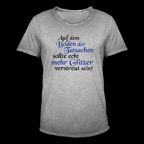 mehr Glitzer..Rot/Goldmetallic - Männer Vintage T-Shirt