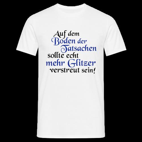 mehr Glitzer..Rot/Goldmetallic - Männer T-Shirt