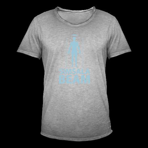 Beam..Braun - Männer Vintage T-Shirt