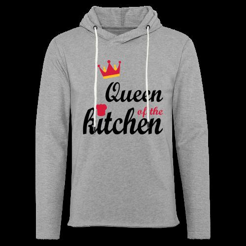 Queen of...Silbermetallic/Neonpink/Goldgelb - Leichtes Kapuzensweatshirt Unisex