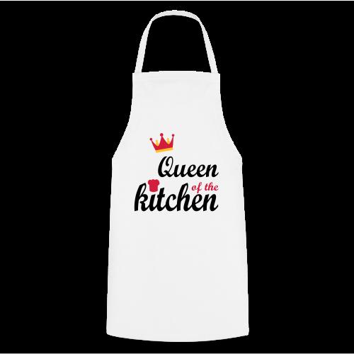 Queen of...Silbermetallic/Neonpink/Goldgelb - Kochschürze