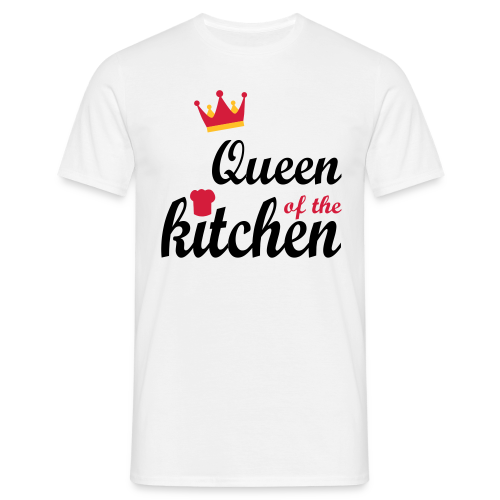 Queen of...Silbermetallic/Neonpink/Goldgelb - Männer T-Shirt