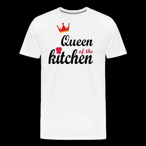 Queen of...Silbermetallic/Neonpink/Goldgelb - Männer Premium T-Shirt