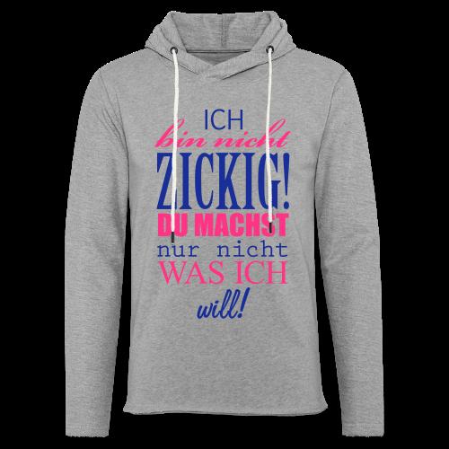 Zickig...Silbermetallic/Neonpink - Leichtes Kapuzensweatshirt Unisex