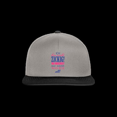 Zickig...Silbermetallic/Neonpink - Snapback Cap