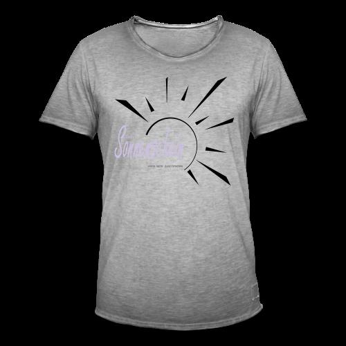 Sonnenschein...Goldgelb/Magenta - Männer Vintage T-Shirt