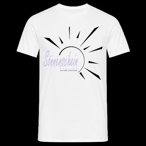 Sonnenschein...Goldgelb/Magenta - Männer T-Shirt
