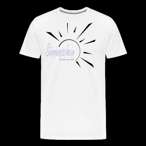 Sonnenschein...Goldgelb/Magenta - Männer Premium T-Shirt