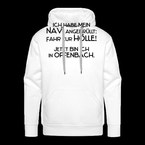 Navi..Neonorange - Männer Premium Hoodie
