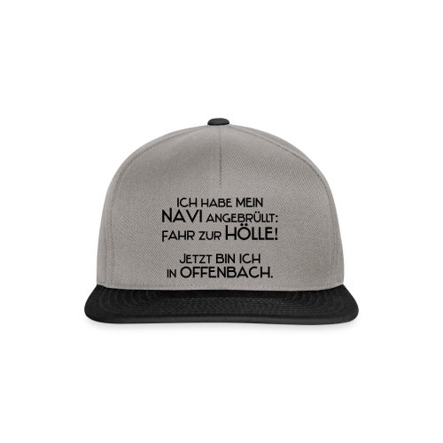 Navi..Neonorange - Snapback Cap