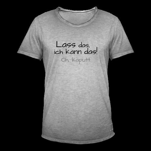 Ich kann das...Neonorange-&Grün - Männer Vintage T-Shirt