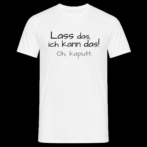 Ich kann das...Neonorange-&Grün - Männer T-Shirt