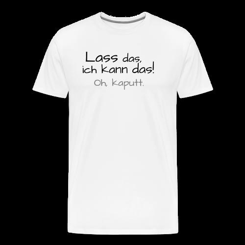Ich kann das...Neonorange-&Grün - Männer Premium T-Shirt