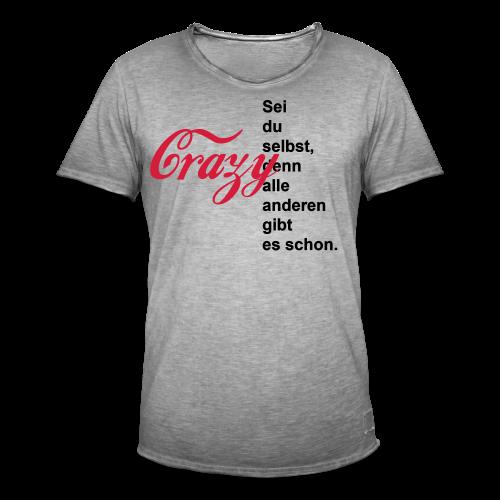 Crazy...Schwarz/Neonpink - Männer Vintage T-Shirt