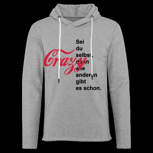 Crazy...Schwarz/Neonpink - Leichtes Kapuzensweatshirt Unisex