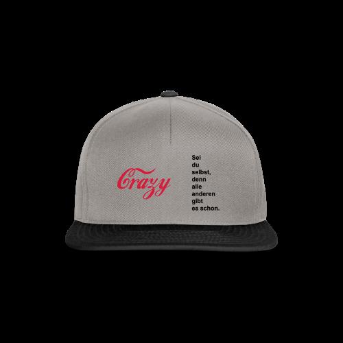 Crazy...Schwarz/Neonpink - Snapback Cap