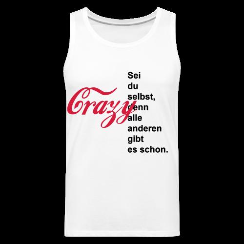 Crazy...Schwarz/Neonpink - Männer Premium Tank Top