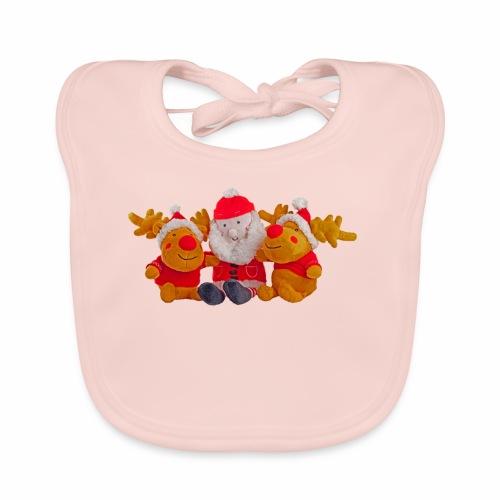Weihnachtsmann Rentier Männer Pulli - Baby Bio-Lätzchen