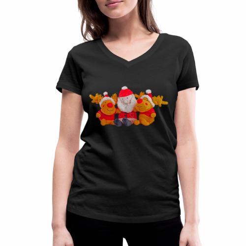 Weihnachtsmann Rentier Männer Pulli - Frauen Bio-T-Shirt mit V-Ausschnitt von Stanley & Stella