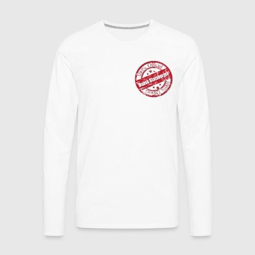 100% Officiel Dansk Statsborger - Herre premium T-shirt med lange ærmer