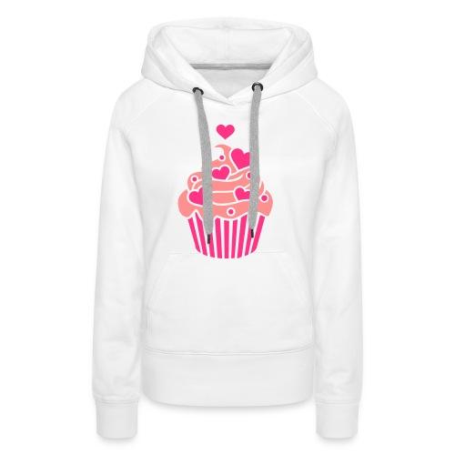 tee shirt cupcakes  - Sweat-shirt à capuche Premium pour femmes