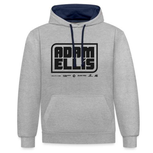 Adam Ellis - Unisex Hoodie - Grey - Contrast Colour Hoodie