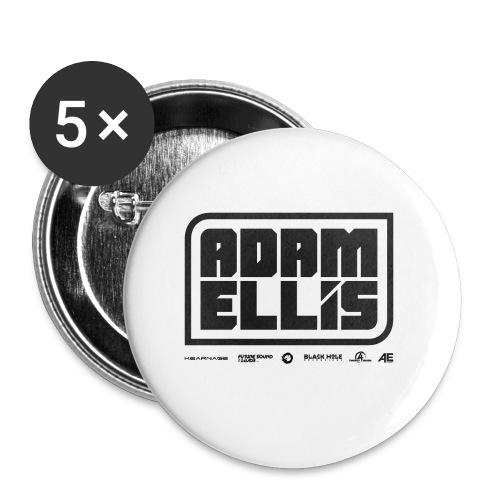Adam Ellis - Unisex Hoodie - Grey - Buttons small 25 mm