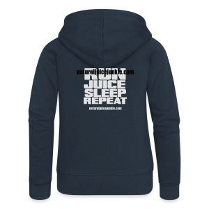 Womens Run Juice Sleep Repeat - Women's Premium Hooded Jacket