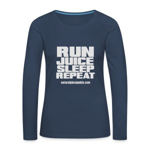 Womens Run Juice Sleep Repeat - Women's Premium Longsleeve Shirt