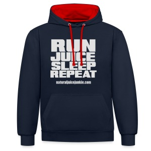 Mens Run Juice Sleep Repeat - Contrast Colour Hoodie