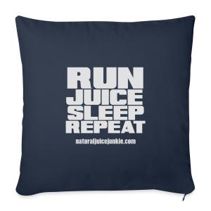 Mens Run Juice Sleep Repeat - Sofa pillow cover 44 x 44 cm