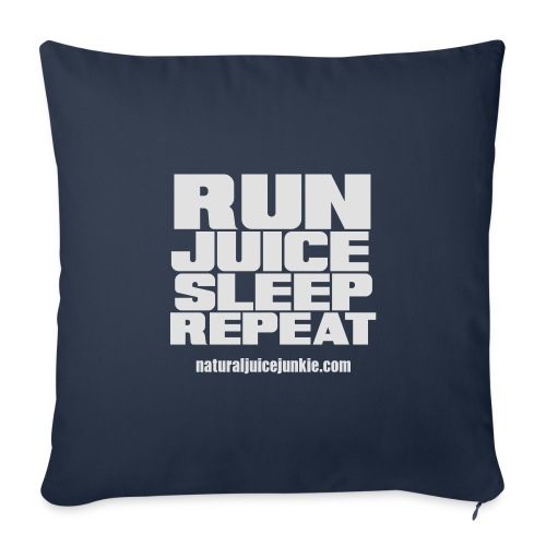 Mens Run Juice Sleep Repeat - Sofa pillow cover 44 x 44 cm