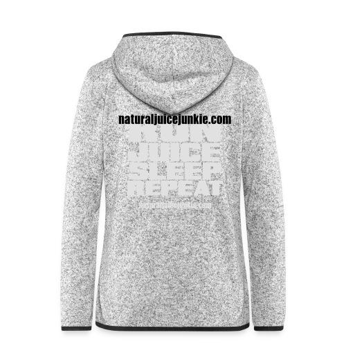 Mens Run Juice Sleep Repeat - Women's Hooded Fleece Jacket