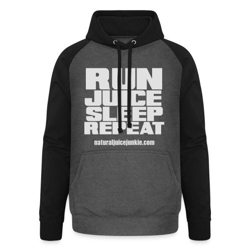 Mens Run Juice Sleep Repeat - Unisex Baseball Hoodie