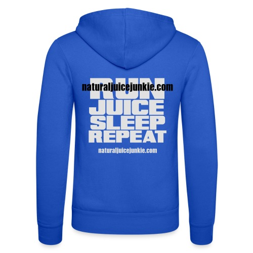 Mens Run Juice Sleep Repeat - Unisex Hooded Jacket by Bella + Canvas