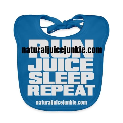 Mens Run Juice Sleep Repeat - Baby Organic Bib