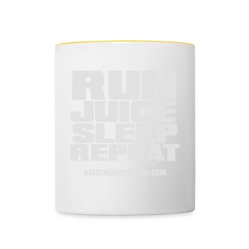 Mens Run Juice Sleep Repeat - Contrasting Mug