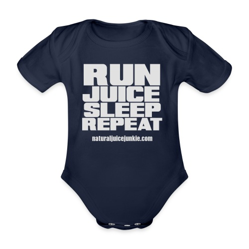 Mens Run Juice Sleep Repeat - Organic Short-sleeved Baby Bodysuit