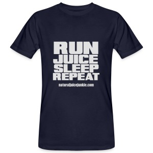 Mens Run Juice Sleep Repeat - Men's Organic T-shirt