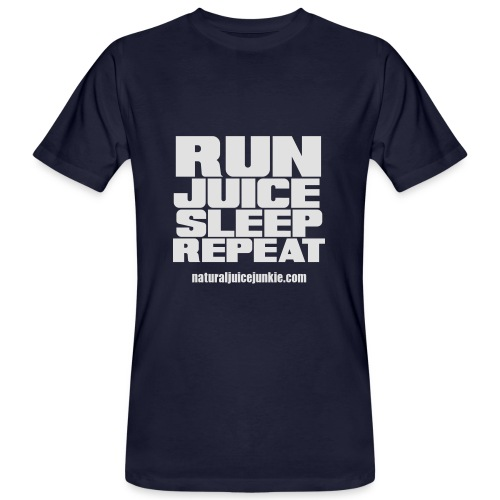 Mens Run Juice Sleep Repeat - Men's Organic T-shirt