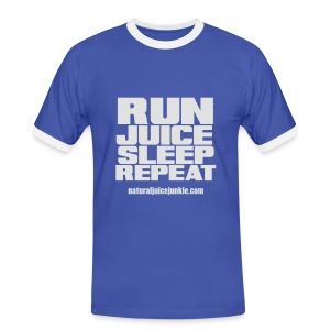 Mens Run Juice Sleep Repeat - Men's Ringer Shirt