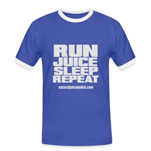 Mens Run Juice Sleep Repeat - Men's Ringer Shirt