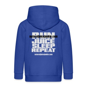 Mens Run Juice Sleep Repeat - Kids' Premium Zip Hoodie