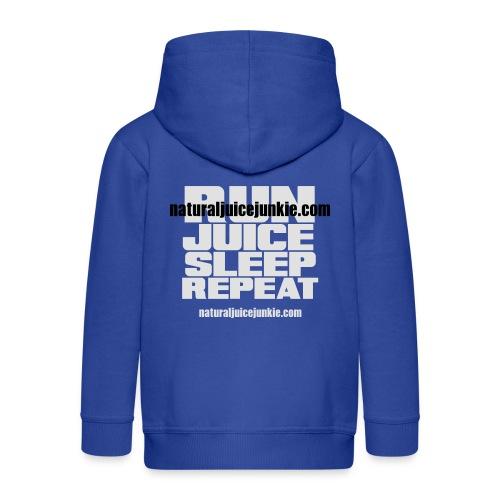 Mens Run Juice Sleep Repeat - Kids' Premium Zip Hoodie