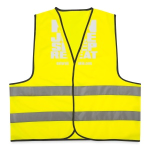 Mens Run Juice Sleep Repeat - Reflective Vest