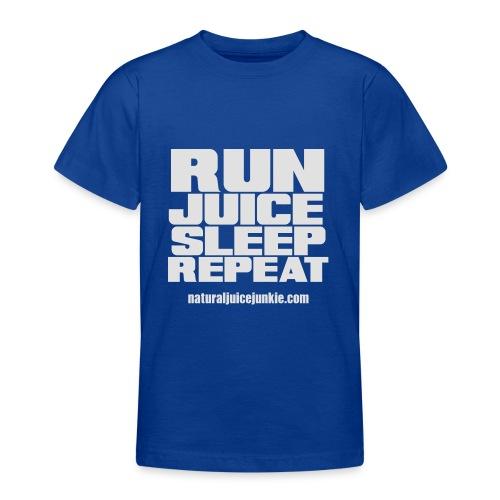 Mens Run Juice Sleep Repeat - Teenage T-Shirt